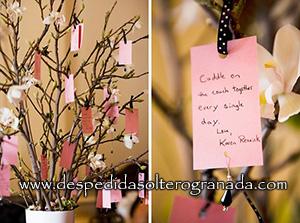 Árbol de deseos como regalo de despedida de soltera