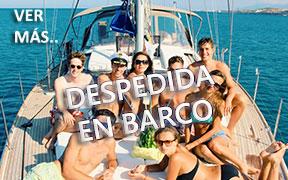 Despedida en barco en Granada