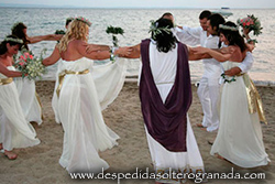 Despedida griega en la playa